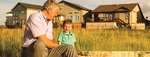 Grandfather and Grandson in Sage Creek